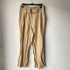 Zara medium buckle front tan pants